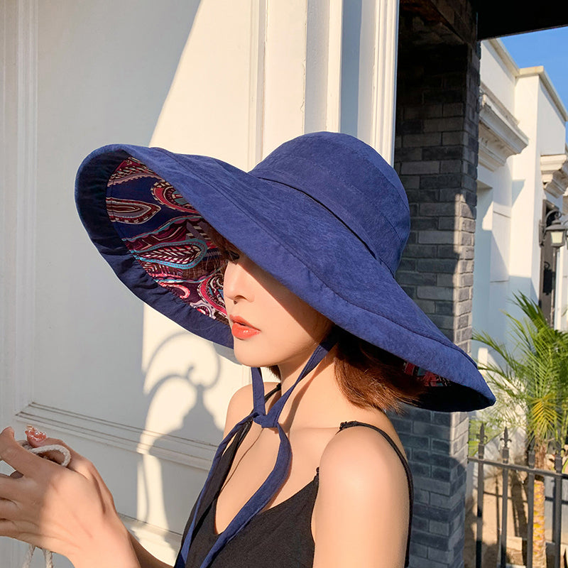 Summer Packable Reversible Travel Sun Visor Hat
