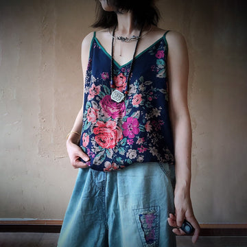 Summer Retro Print 100% Cotton Camis