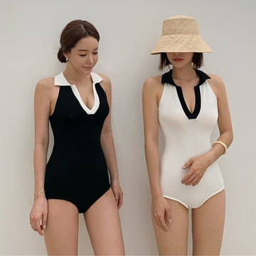 Summer Sexy V-neck One-piece Swimsuit