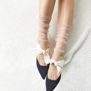 Summer Solid Color Thin Sheer Knee-length Socks (3 Pairs)