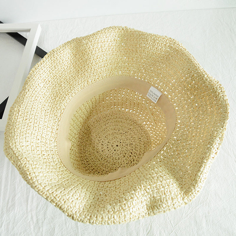 Summer Travel Sun Protection Foldable Straw Hat
