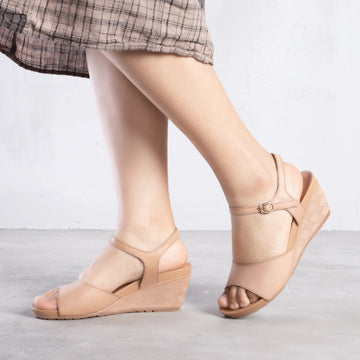 Summer Wedge Casual Leather Peep-toe