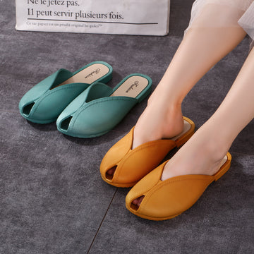 Summer Women Pure Color Casual Slippers