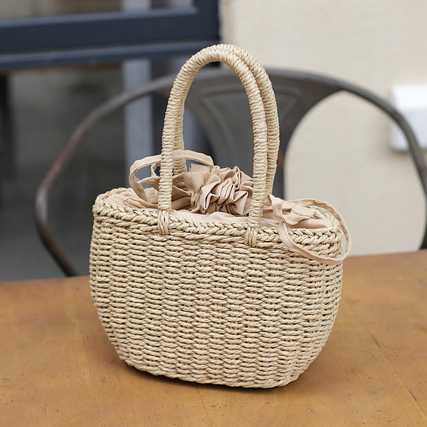 Summer Beach Handwork Straw Tote Bag