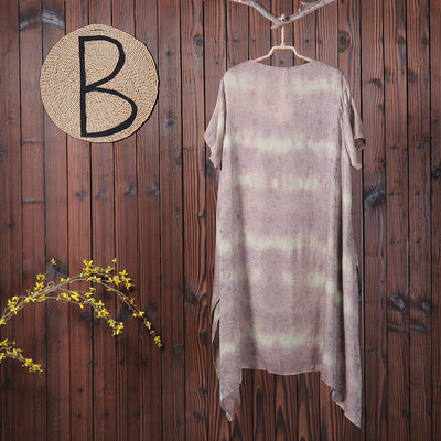 Summer Casual Cotton Linen Irregular Women Dress