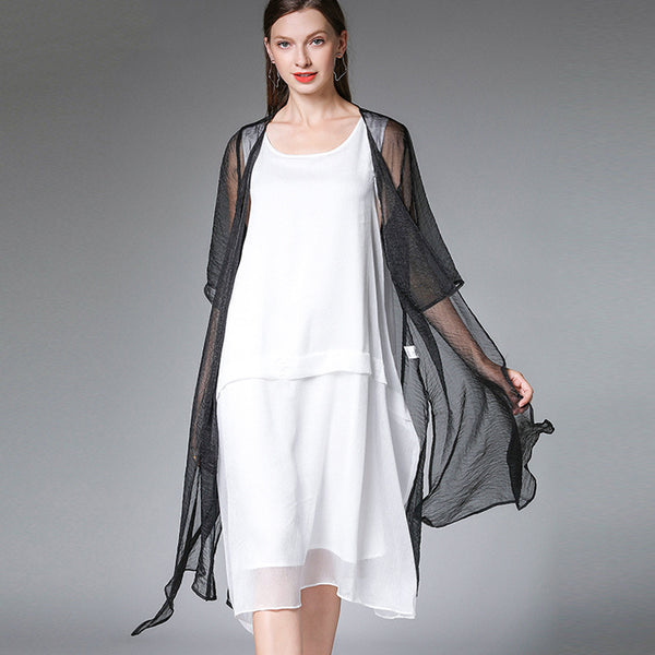 Summer Casual Short Sleeve Plus Size Coat