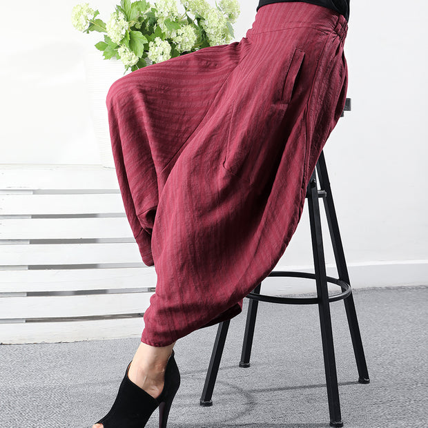 Summer Cotton Linen Loose Casual Lantern Pants