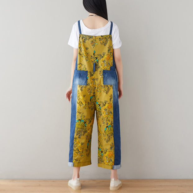 Summer Fashion Vintage Bleached Women Overalls