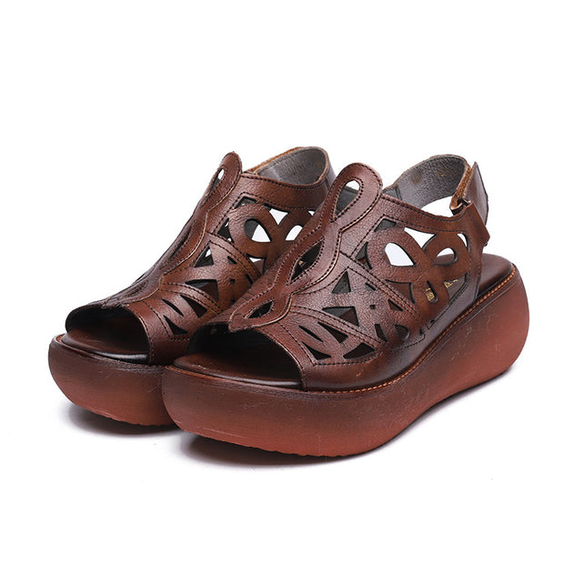 Summer Hollow Out Cool Leather Sandals