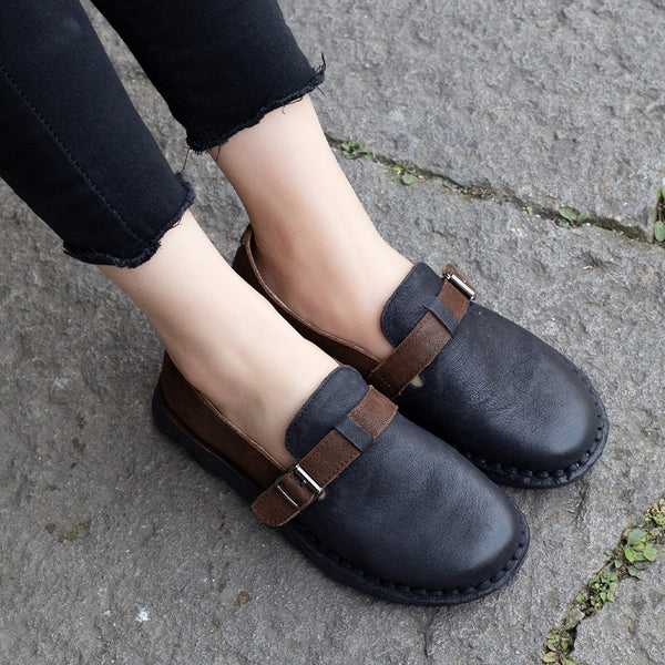 Summer Leather Soft Casual Classic Flats