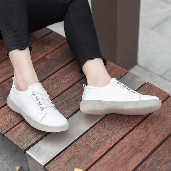 Summer Low Help Leather Casual Flats
