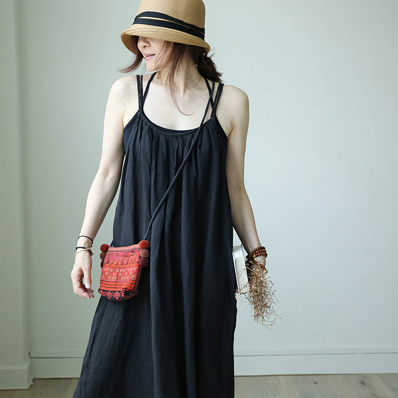 Summer Nice And Cool Solid Color Slip Dress