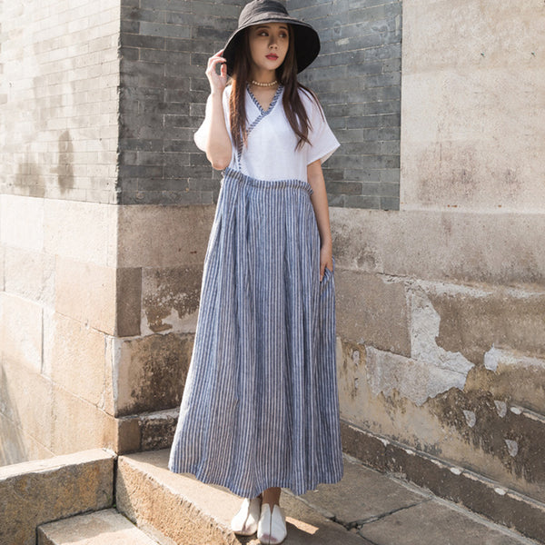 bbe6ef82757a Sale Summer Round Neck Short Sleeve Loose Dress