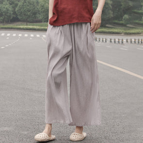 Summer Thin Gauze Casual Ankle Pants