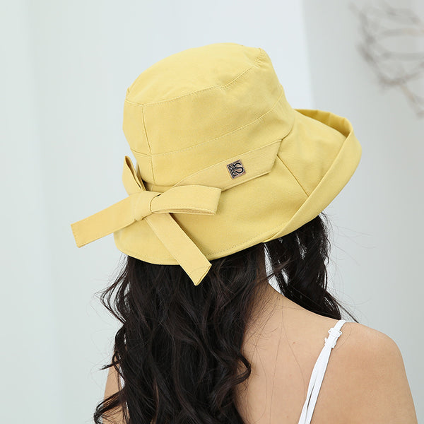 Summer Vacation Gift Bow Solid Hat