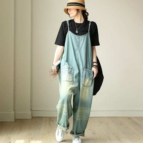Summer Women Casual Loose Vintage Overalls