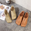 Summer Women Cowhide Low Hollow Shoes