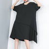 Summer Women Fashion Pullover Solid Dress