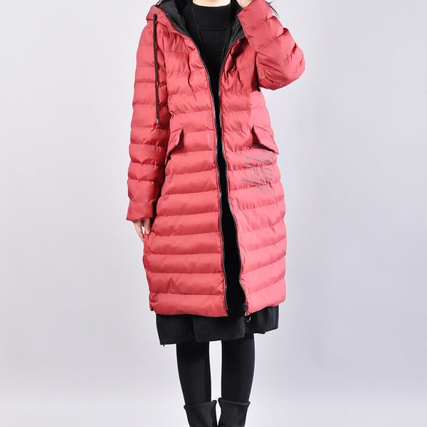 Casual Women Hoodies Long Sleeve Zipper Winter Thicken Down Coat - Buykud