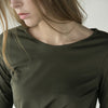 Plus Size Women Round Neck Irregular Hem T-shirt