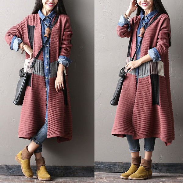 spell color sweater cardigan coat - Tkdress  - 1