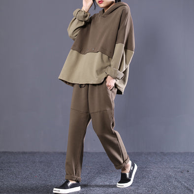 Women Cotton Fall Long Sleeve Coffee  Commuter Suit