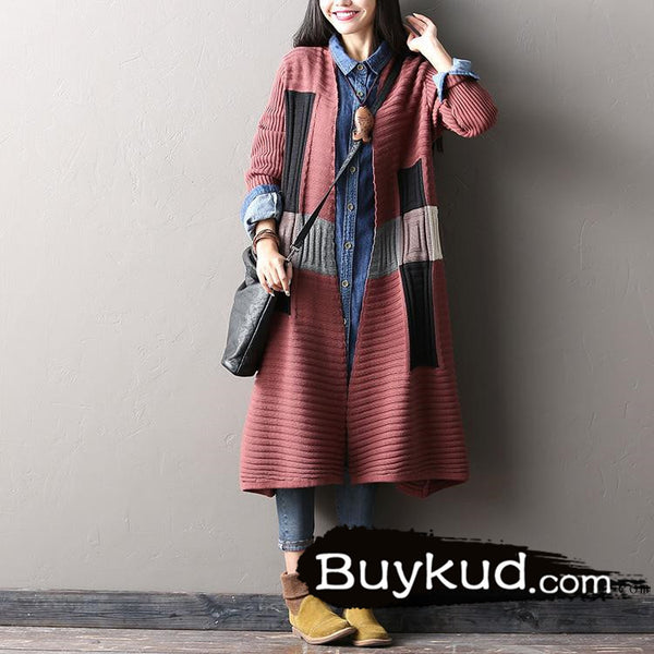 spell color sweater cardigan coat - Tkdress  - 2