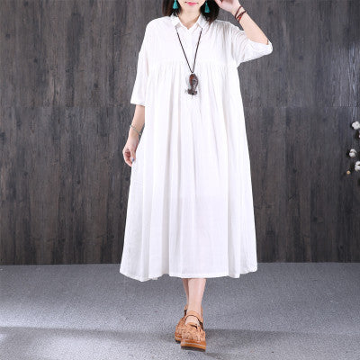 Casual Loose Women Shirt Dress - Buykud