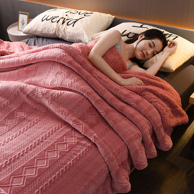Flannel Blanket Blanket Thickened Winter Warmth