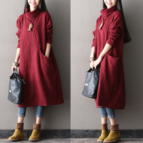 Women Printing cotton long dress - Tkdress  - 1