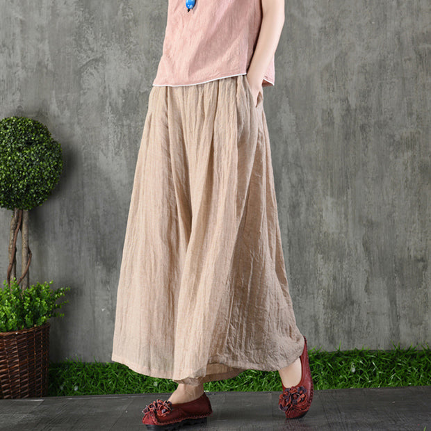 Thin Linen Summer Ankle Length Pants