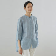 Three Quarter Sleeve Casual Plus Size Shirt