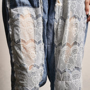 Transparent Lace Stitching Casual Fashion Jeans
