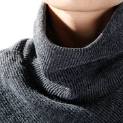 Turtleneck Batwing Sleeve Knitting Loose Sweater