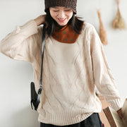 Twist Weaving Warm Casual Winter Sweater