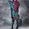 Two Pieces Set Women Long Top And Loose Pants Printing Suit