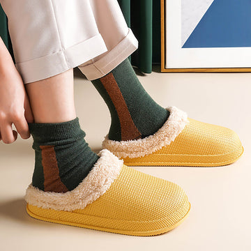 Unisex Home Winter Warm Thick Fluff Slippers