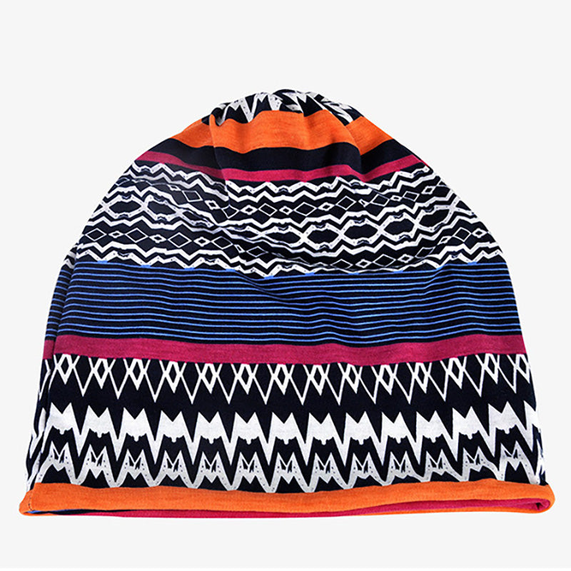 Unisex Knitted Print Elastic Hat