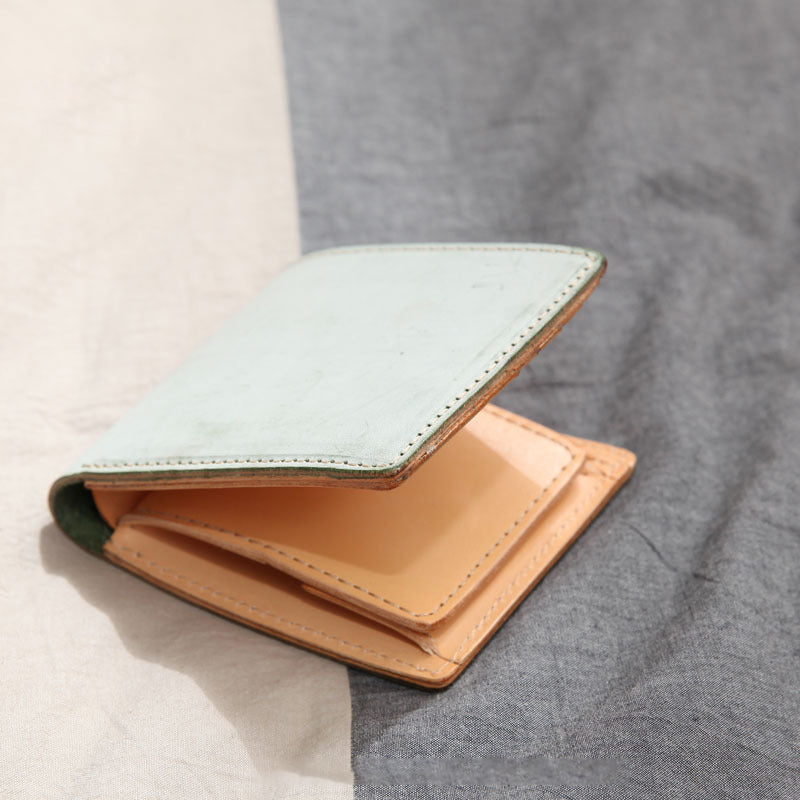 Unisex Short Pure Color Leather Wallet