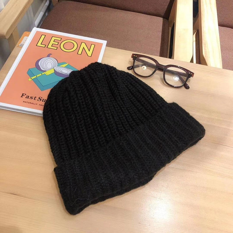 Unisex Solid Color Knitted Warm Hat(2 Pieces)