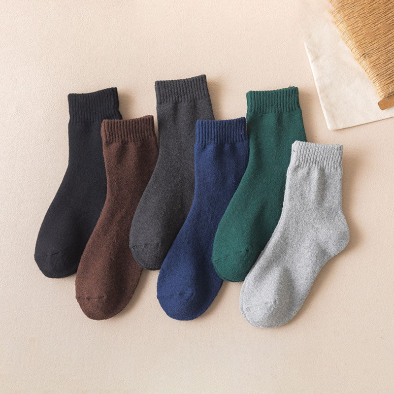 Unisex Winter Pure Color Socks(5 Pairs)