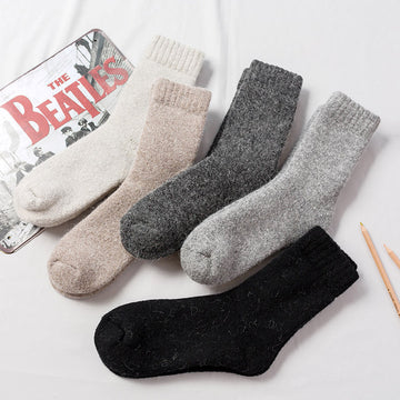 Unisex Winter Thick Warm Wool Socks(2 Pairs)