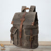 Unisex Travel Climbing Cowhide Hiking Backpack