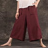 Vintage Ankle-Length Wide Leg Pants