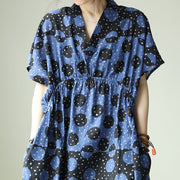 Vintage Black Wave Point Women's Dress