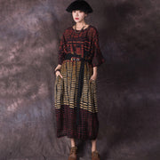 Vintage Casual Loose Dolman Sleeve Maxi Dress
