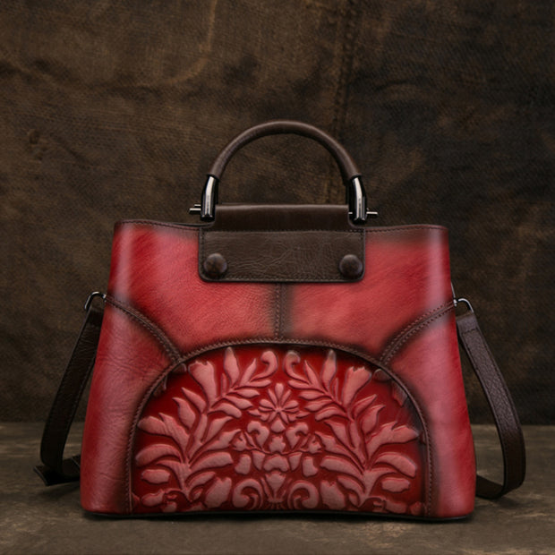 Vintage Leather Hand Made Handbag Crossbody Bag