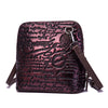 Vintage Leather Letter Zipper Shoulder Bag