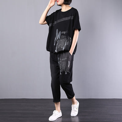 ea3c0810cd3e7 Vintage Loose Patch Designs Blouse And Pants - BUYKUD