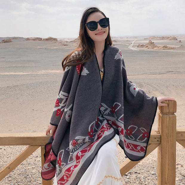 Warm Imitation Cashmere Autumn And Winter Shawl